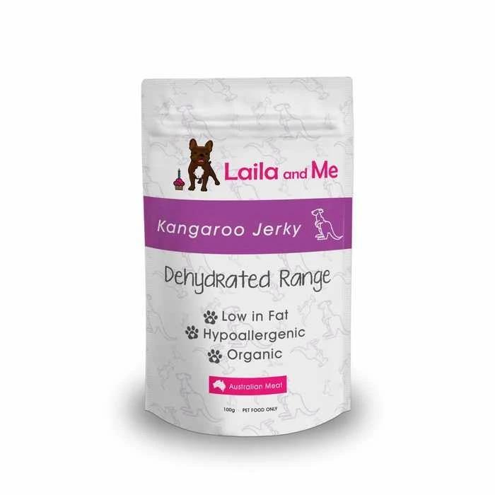 Laila & Me Australian Dehydrated Kangaroo Jerky Dog Treat 100g