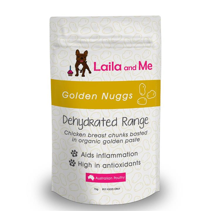 Laila & Me Australian Golden Nuggs Dried Chicken with Golden Paste Dog Treats