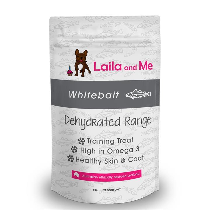 Laila & Me Dehydrated Australian Whitebait Cat & Dog Treats 80g