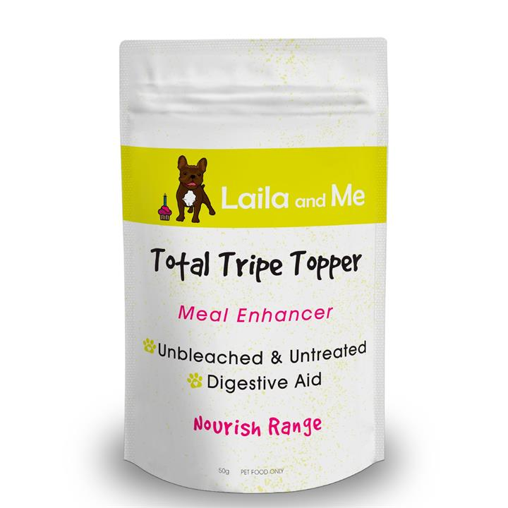 Laila & Me Green Beef Tripe Powder Meal Enhancer for Dogs 50g
