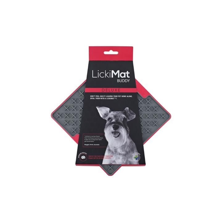 Lickimat Dog Buddy Anxiety Aid Deluxe Red