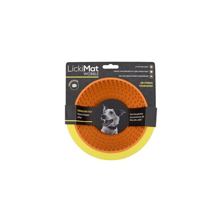 Lickimat Dog Wobble Anxiety Aid Orange