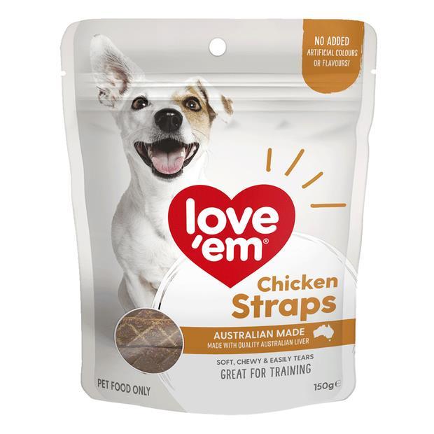 Love Em Chicken Straps 150g