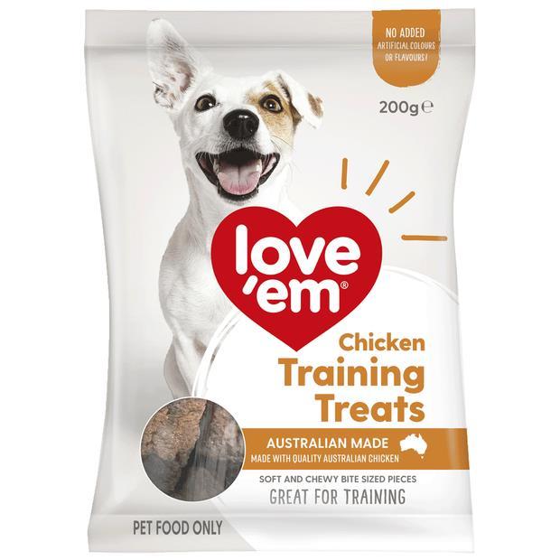 Love Em Chicken Training Treats 200g