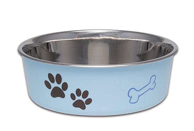 Loving Pets Bella Dog Bowl Murano Blue