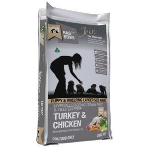 Meals For Mutts Grain Free Turkey & Chicken Lge Bite Puppy Food 20kg