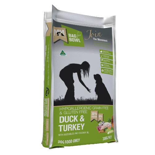 Meals for Mutts Grain Free Duck and Turkey 20kg