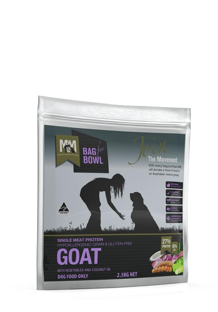 Meals for Mutts Grain Free Single Protein Goat Dog Food 2.5kg