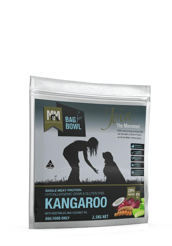 Meals for Mutts Grain Free Single Protein Kangaroo Dog Food 2.5kg