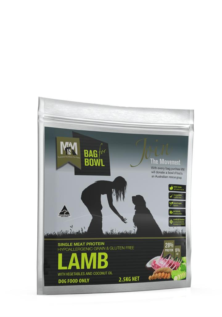 Meals for Mutts Grain Free Single Protein Lamb Dog Food 2.5kg