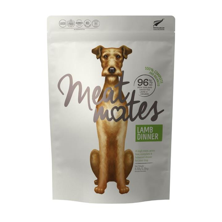 Meat Mates Dog Food Lamb Dinner 1.5kg