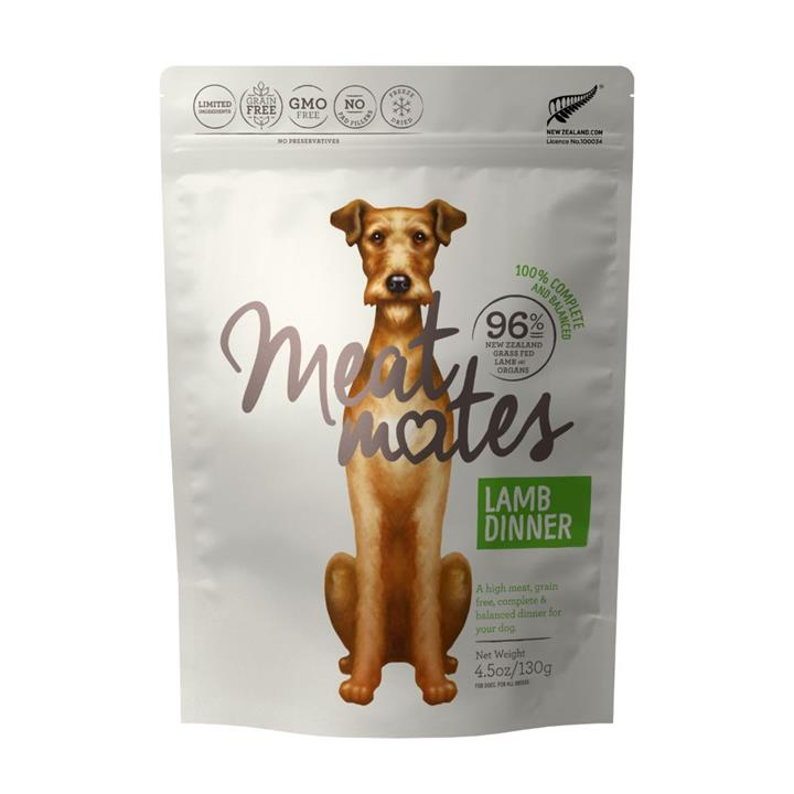 Meat Mates Dog Food Lamb Dinner 130g