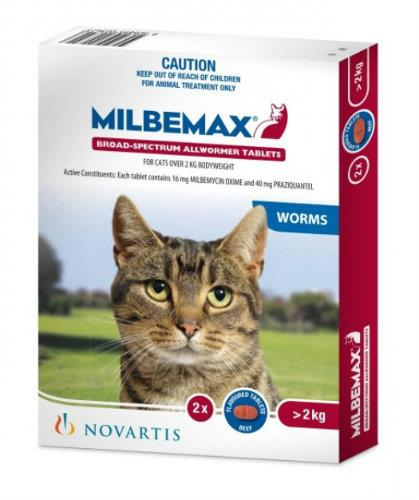 Milbemax Allwormer Cat Over 2kg 2 tablets