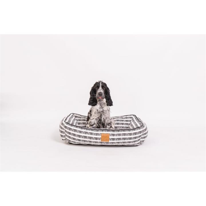 Mog & Bone Bolster Bed Black Mosaic