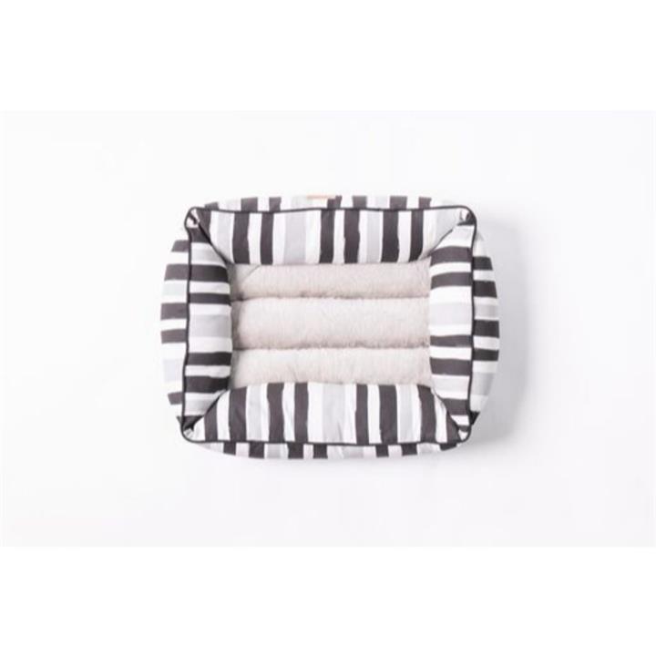 Mog & Bone Bolster Bed Pebble Black Brush Large