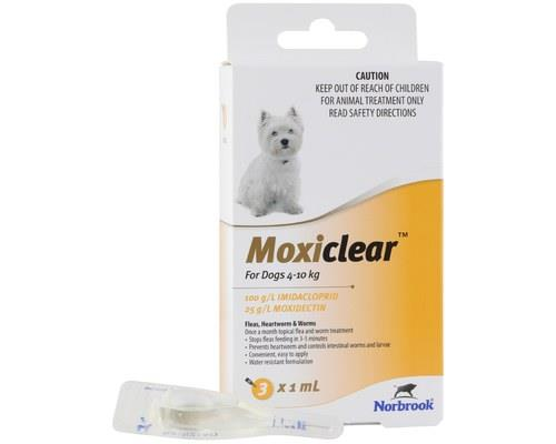Moxiclear For Dogs 4-10kg 3 Pack