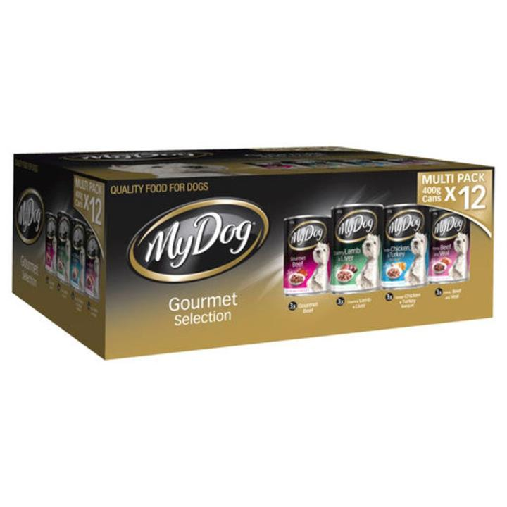 My Dog Gourmet Selection Multi Pack Adult Wet Dog Food 12x400g