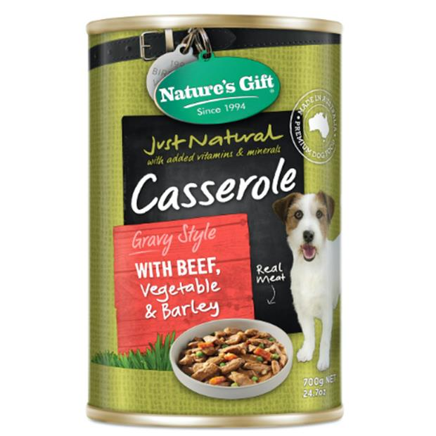 Natures Gift Wet Dog Food Adult Beef And Veg Casserole 12 X 700g