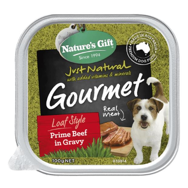 Natures Gift Wet Dog Food Adult Prime Beef And Gravy 9 X 100g