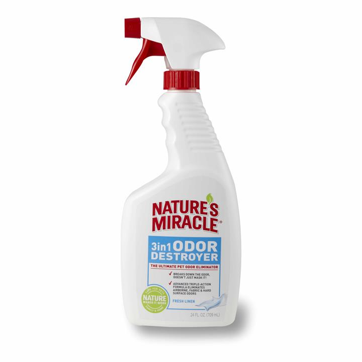 Nature's Miracle 709ml 3 in 1 Odour Destroyer Linen