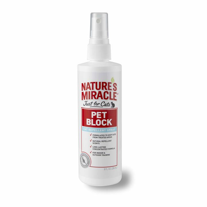 Nature's Miracle Just for Cats 236ml Pet Block Repellent Spray