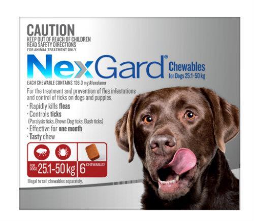 NexGard Large 25-50kg Red 3 pack