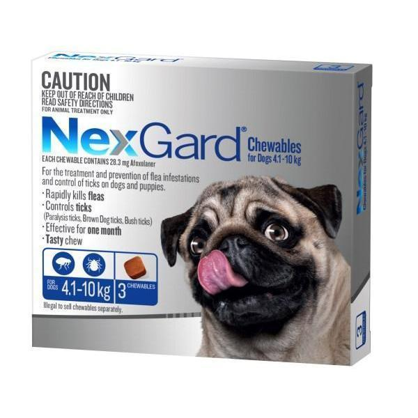 NexGard Small 4-10kg Blue 3 pack