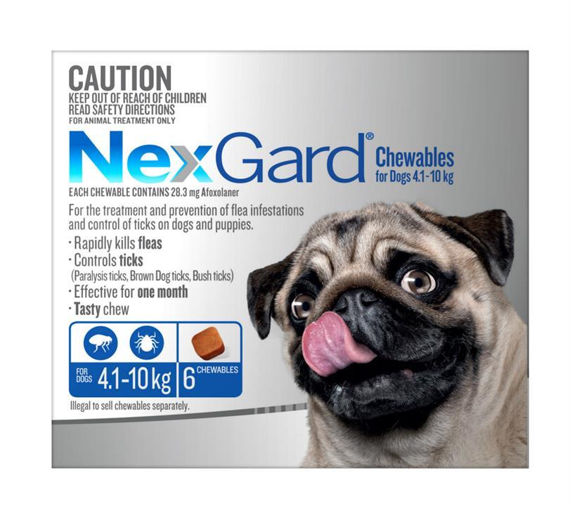NexGard Small 4-10kg Blue 6 pack