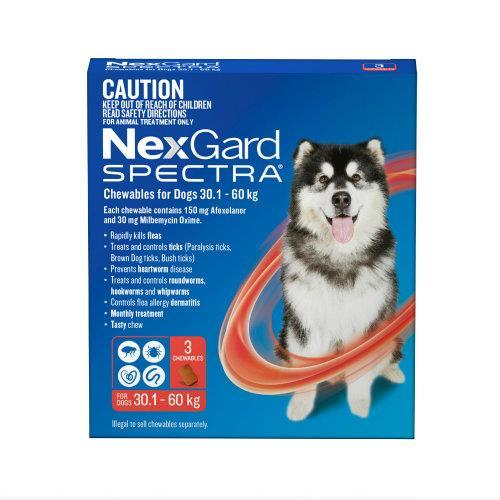 NexGard Spectra Extra Large 30.1-60kg 3 pack
