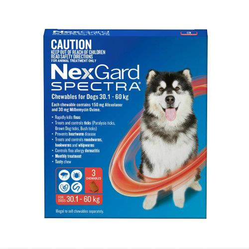 NexGard Spectra Extra Large 30.1-60kg 6 pack