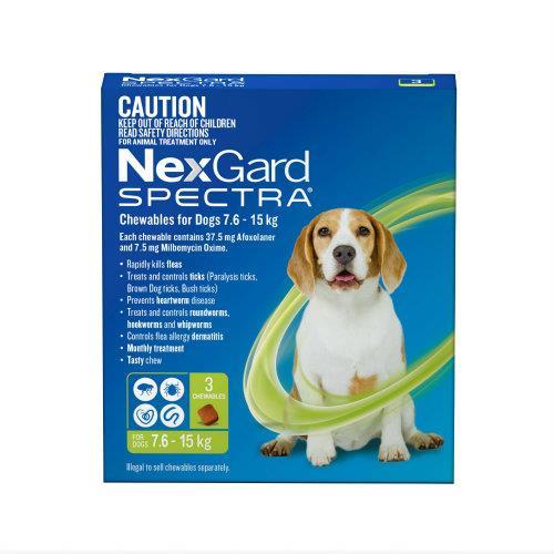 NexGard Spectra Medium 7.6-15kg 3 pack