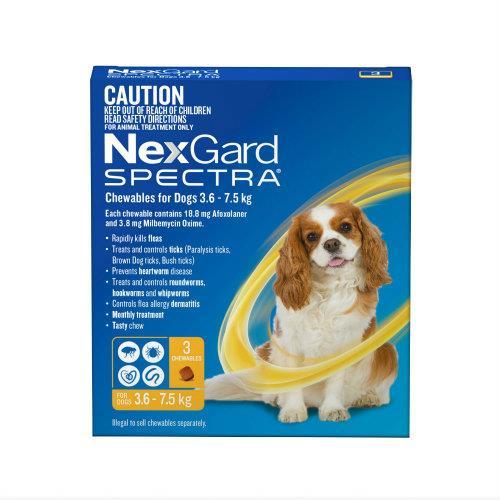 NexGard Spectra Small Dog 3.6-7.5kg 3 pack