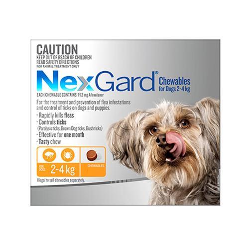 Nexgard Dogs 2-4 Kg Orange 6 Chews