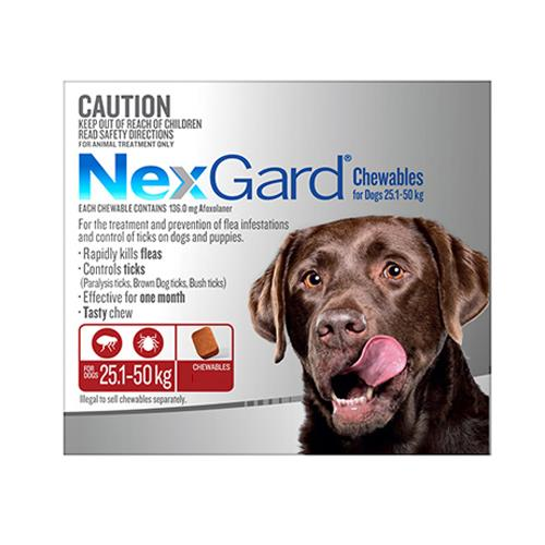 Nexgard Dogs 25-50Kg Red 6 Chews