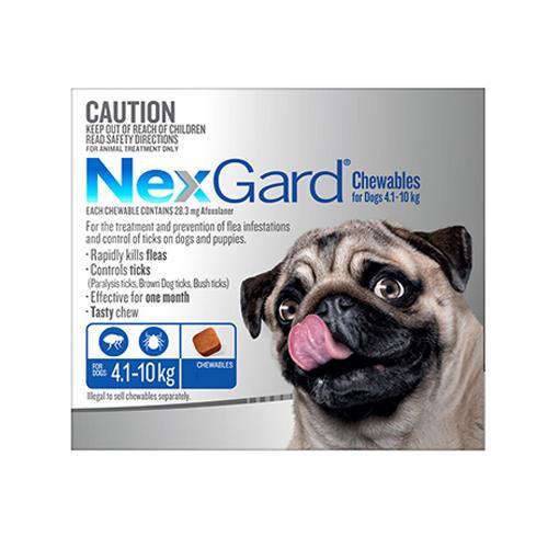 Nexgard Dogs 4.1-10Kg Blue 6 Chews