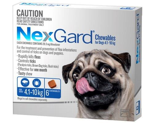 Nexgard For Dogs 4.1-10kg 6 Pack (blue)
