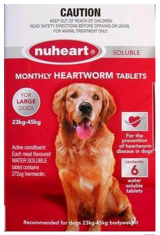 Nuheart Large Dog 23-45kg Red 6 pack