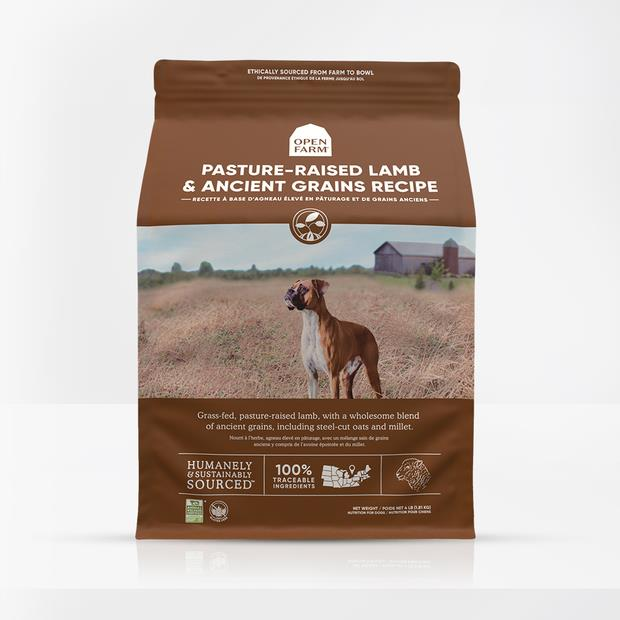 Open Farm Pasture Raised Lamb Ancient Grain Dry Dog Food 10kg