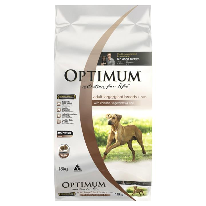 Optimum Adult Large Breed Chicken, Rice and Vegetables 15kg