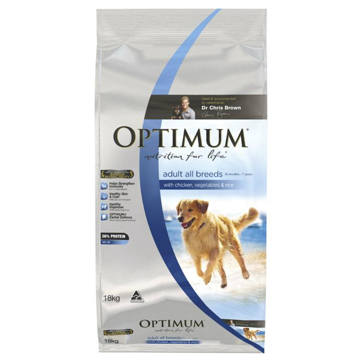 Optimum All Breed Adult Chicken, Rice and Vegetables 15kg