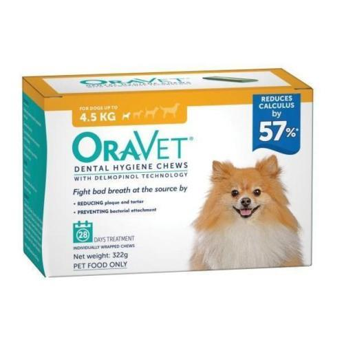Oravet Dental Chews Extra Small up to 4.5kg 28 chews