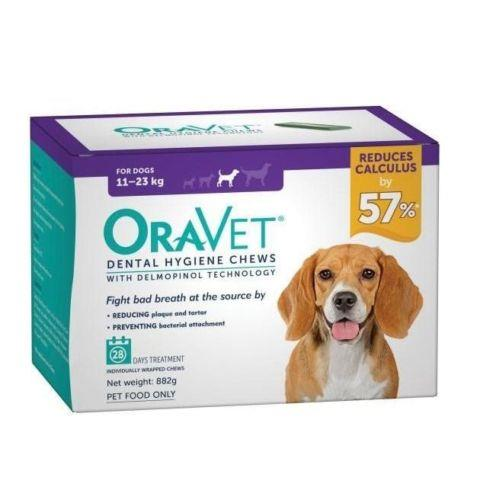 Oravet Dental Chews Medium 11-23kg 28 chews