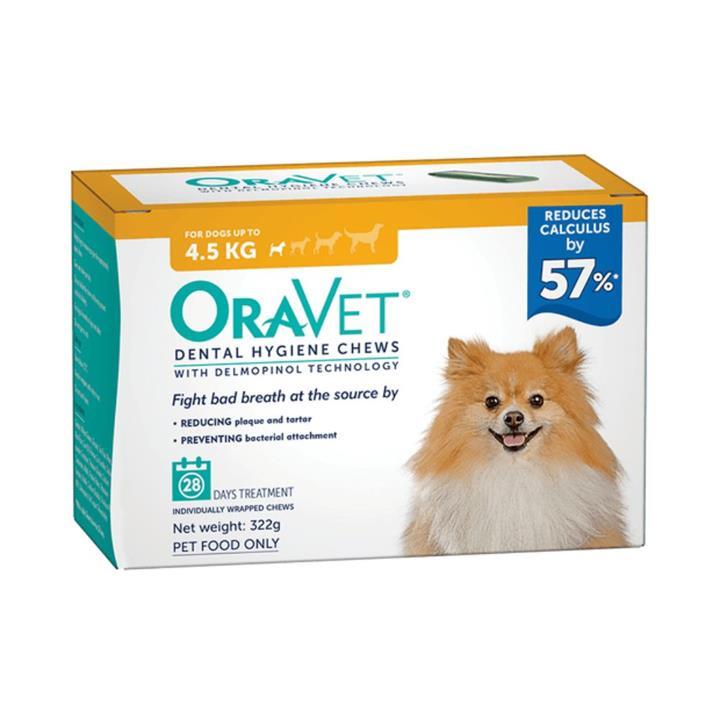 Oravet Dog Dental Hygiene Chews Extra Small
