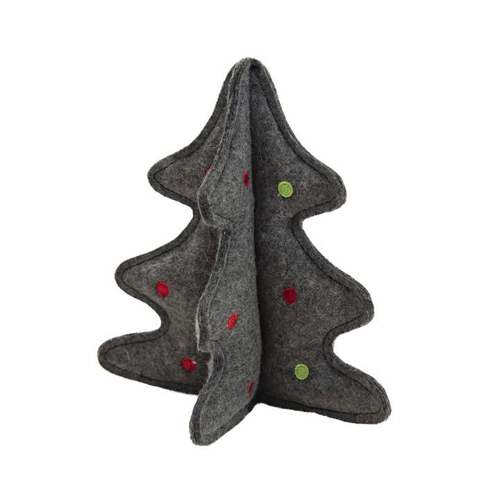 Outward Hound Woolyz Holiday Dog Toy - Christmas Tree