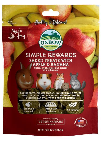 Oxbow Simple Rewards Apple Banana Treats 60g