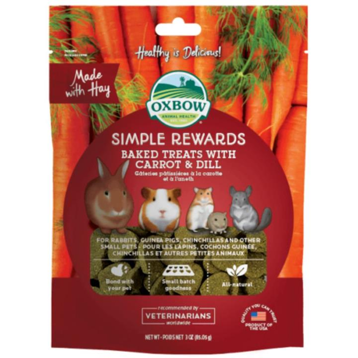 Oxbow Simple Rewards Carrot & Dill Small Animal Treats 60g