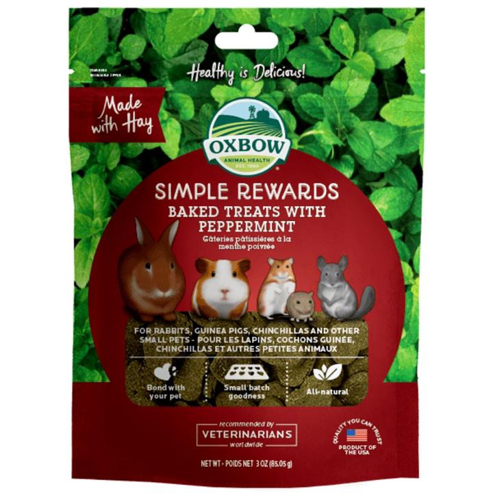 Oxbow Simple Rewards Peppermint Small Animal Treats 60g