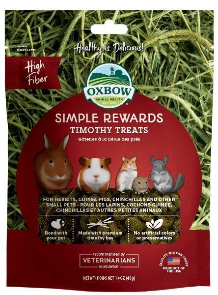 Oxbow Simple Rewards Timothy Treats 40g