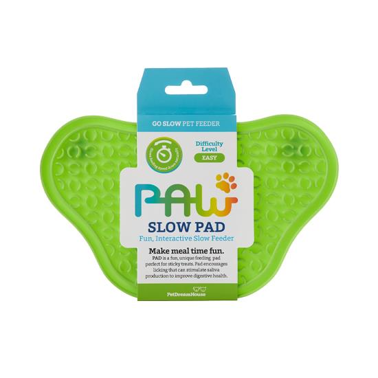 PAW Lick Pad Slow Feeder & Anti-Anxiety Food Mat for Cats & Dogs - Green