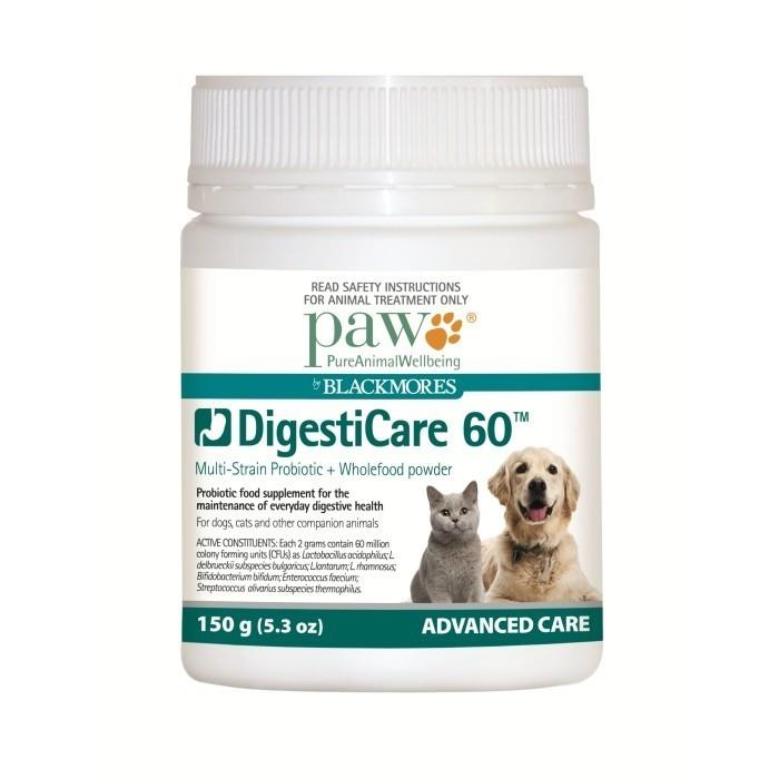 PAW by Blackmores Digesticare Probiotic & Wholefood Powder for Cats & Dogs 150g